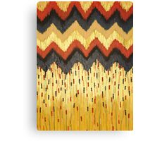 SHINE ON - Gold Glam Chevron Colorful Abstract Acrylic Pattern Painting Modern Home Decor Fine Art Canvas Print