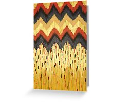 SHINE ON - Gold Glam Chevron Colorful Abstract Acrylic Pattern Painting Modern Home Decor Fine Art Greeting Card