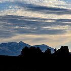 Henry Mountains - Goblin Silhouettes by Michael Kannard
