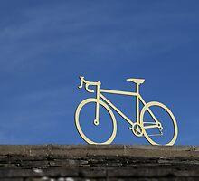 Tour de France yellow bike by paulwhittle