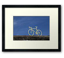 Tour de France yellow bike Framed Print