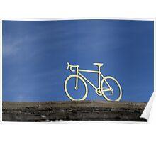 Tour de France yellow bike Poster