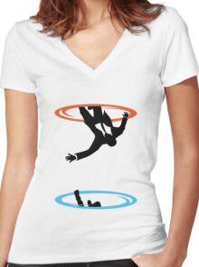Draper Falls Women's Fitted V-Neck T-Shirt