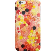 PERSONAL BUBBLE - Hot Pink Bubblegum Pop Fun Whimsical Circles Abstract Acrylic Painting Gift iPhone Case/Skin