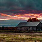 Sunrise Over The Farm by Nicolas Goulet