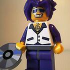 DJ Clubbing Tru Son of Disco Stu LEGO® Custom Minifigure with CD, by 'Customize My Minifig' by Chillee