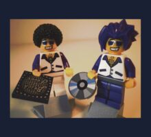 DJ Clubbing Tru & his Dad Disco Stu (with CD and Brick Fever Record) LEGO® Minifigs, by 'Customize My Minifig' by Chillee