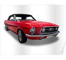 Ford - 1967 Mustang Coupe Special Convertable Poster