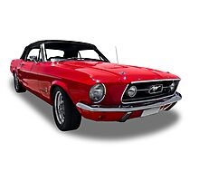 Ford - 1967 Mustang Coupe Special Convertable Photographic Print