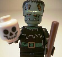 Frankensteins Monster Custom LEGO® Minifigure with Skull, by 'Customize My Minifig' by Chillee
