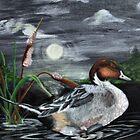 Moonlight Mallard by Kathy Peters Snow