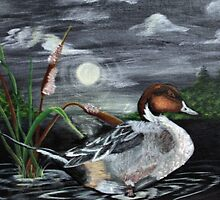 Moonlight Mallard by Kathy Peters Snow