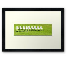 nine bums  Framed Print