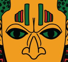 Benin Mask Design Sticker