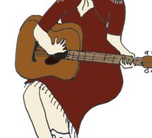 Cowgirl country singer pinup  Sticker