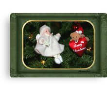 Beary Christmas ~ Tree Decorations Canvas Print