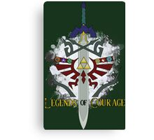 Legends of Courage  Canvas Print