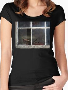 On The Dark Side Of The Window Women's Fitted Scoop T-Shirt