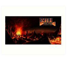 DOOM: Hellscape w/ EvilLemur logo Art Print