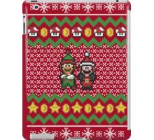 Super Mario and Lugi Ugly Christmas Sweater iPad Case/Skin