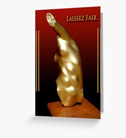 Laissez Fair Greeting Card
