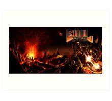 DOOM: EVIL LEMUR Hellscape full cover Art Print