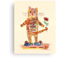 Cat Waiting for Sweetheart Canvas Print