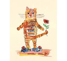 Cat Waiting for Sweetheart Photographic Print