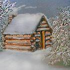 Cabin in The Snow by Ljartdesigns