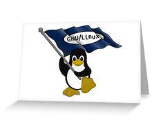 W gnu/Linux Greeting Card