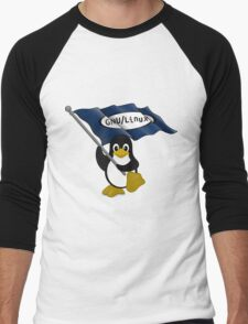 W gnu/Linux Men's Baseball ¾ T-Shirt