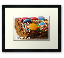 It's the thought that counts Framed Print