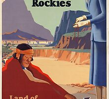 Vintage poster - New Mexico by mosfunky