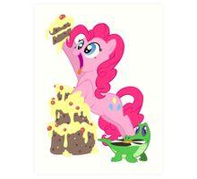 Pinkie Pie - This cake ist not a lie Art Print