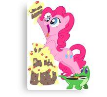 Pinkie Pie - This cake ist not a lie Canvas Print