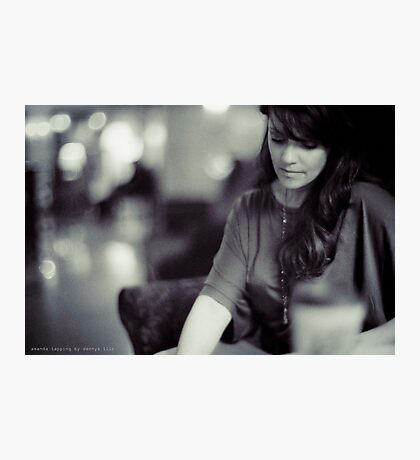 Amanda Tapping vs. Leica - Deep in Thought Photographic Print