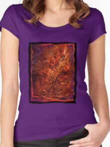 flame tree Women's Fitted Scoop T-Shirt