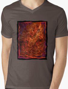 flame tree Mens V-Neck T-Shirt