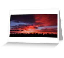 Sunrise - Hay, NSW Greeting Card