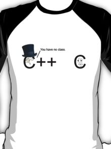 C++ v.s C   Programming language T-Shirt