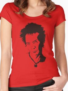 Syd Vicious of the Sex Pistols  Women's Fitted Scoop T-Shirt