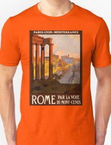 Vintage Travel Poster: Rome T-Shirt