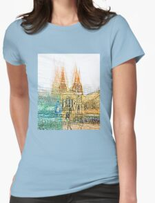 melbourne abstraction Womens Fitted T-Shirt