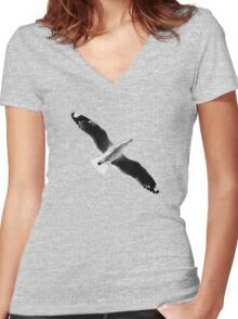 Bombs Away! Women's Fitted V-Neck T-Shirt