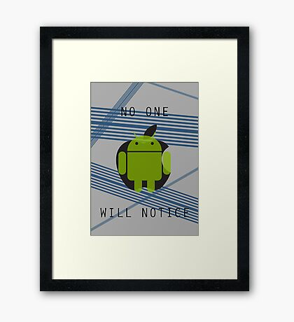 I am Android Framed Print