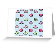 Angler Fish Cuties (Pattern)  Greeting Card