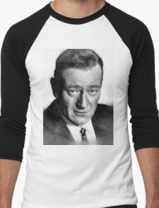 John Wayne by John Springfield Men's Baseball ¾ T-Shirt