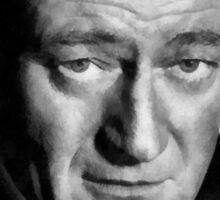 John Wayne by John Springfield Sticker