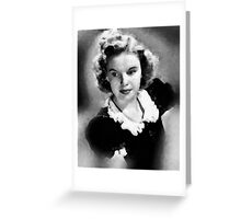 Judy Garland by John Springfield Greeting Card