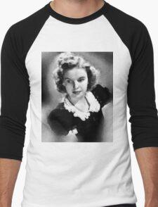 Judy Garland by John Springfield Men's Baseball ¾ T-Shirt